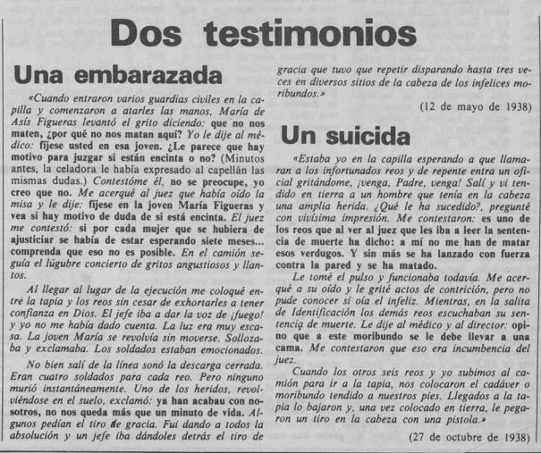 Recorte del periódico Andalán el 13 de noviembre de 1980