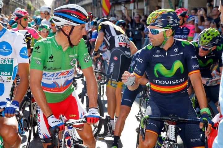 Vuelta Spagna 2015 - 70a Edizione - 21a tappa Alcala de Henares - Madrid 98.8 km - 13/09/2015 - Joaquin Rodriguez (Katusha) - Alejandro Valverde (Movistar) - foto Luca Bettini/BettiniPhoto©2015